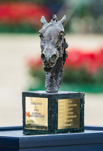 The Longines FEI Jumping Nations Cup trophy.