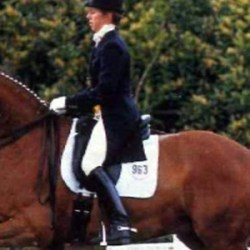 Vicky Thompson-Winfield and Enfant (1986-2020). © British Dressage