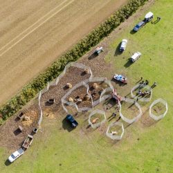 A view from above of the Cambridgeshire operation. © World Horse Welfare