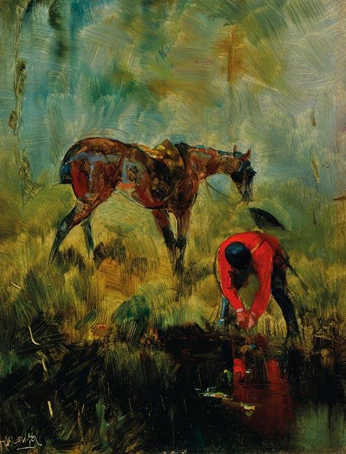 Henri de Toulouse-Lautrec's Cheval de chasse à courre (1880) has a pre-auction estimate of between $US180,000 and $US 250,000.