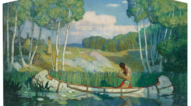 Indian Love Call by Newell Convers Wyeth fetched $US3.15 million at a sale of art from the colledction of T. Boone Pickens.