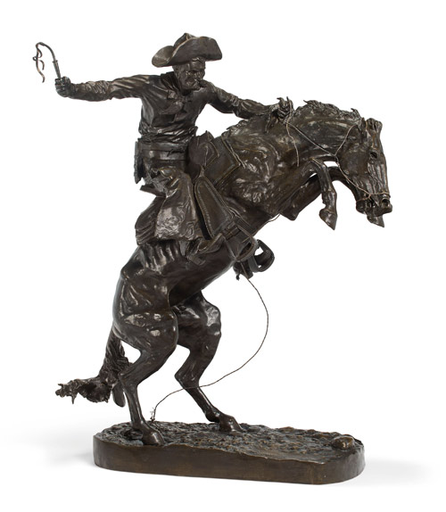 Frederick Remington's The Broncho Buster has a pre-auction estimate of between $US300,000 and $500,000.