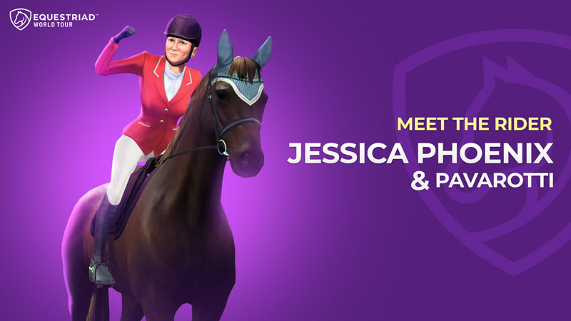 Jessica Phoenix is among the licenced riders for the new game Equestriad World Tour.