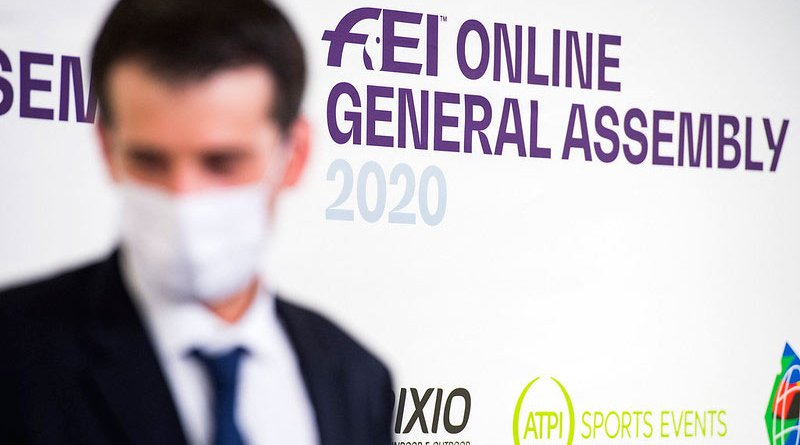 Gaspard Dufour, FEI Information and Sports Technology Director at the online FEI General Assembly 2020.