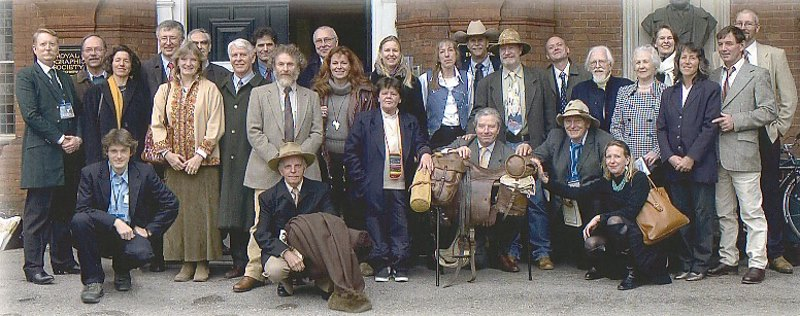 In 2005 the couple hosted an unprecedented gathering of equestrian explorers. Twenty-eight Long Riders from around the world assembled in London. They met at the Royal Geographical Society to witness the donation of more than 100 equestrian travel classics published by the LRG Press. Ten of the Long Riders present authored books in the collection.