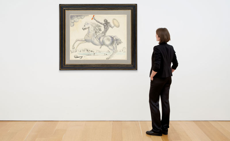 Le Chevalier by Salvador Dali (1904-1989) is being auctioned in New York later this month.
