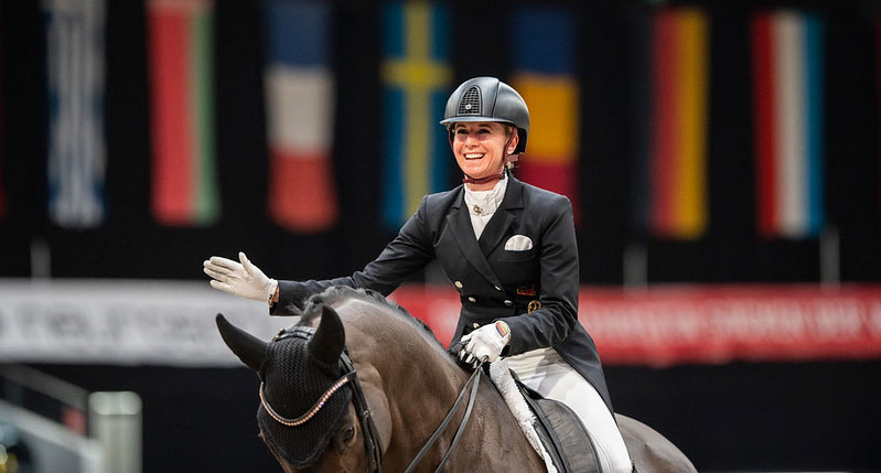 Jessica von Bredow-Werndl and TSF Dalera BB, pictured after winning the FEI Dressage World Cup in Salzburg, Austria, in January 2021.