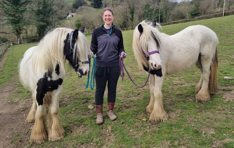 Ribble and Nidd with their new owner, Yvette Carlton.
