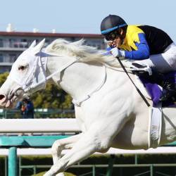Sodashi holds off Satono Reinas and Fine Rouge to win the 1600m turf Oka Sho (Japanese 1000 Guineas) on Sunday.