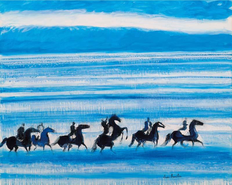André Brasilier's Les chevaux marins