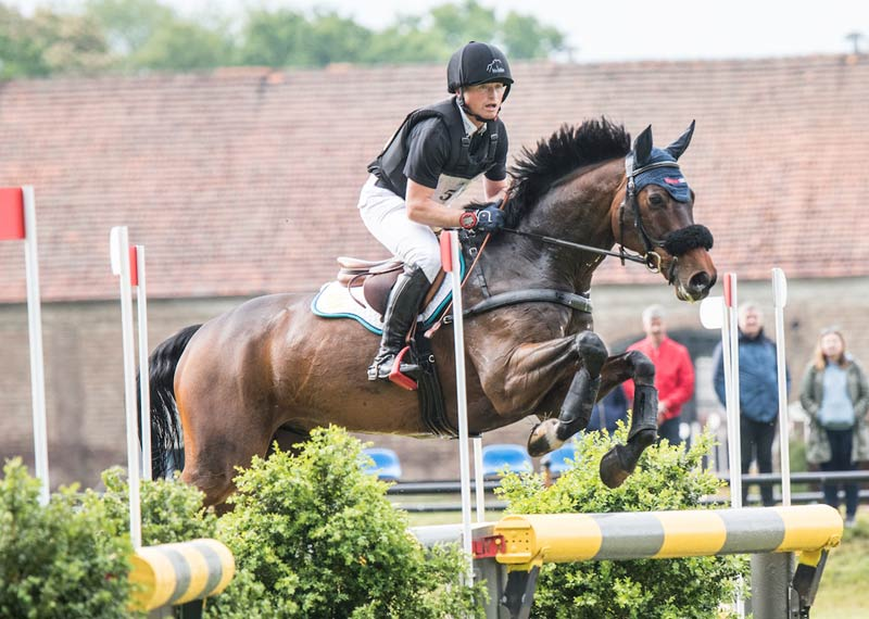 Michael Jung and Fisherwild Wave are third in the CCI4*-S at Baborówko after the cross-country phase.