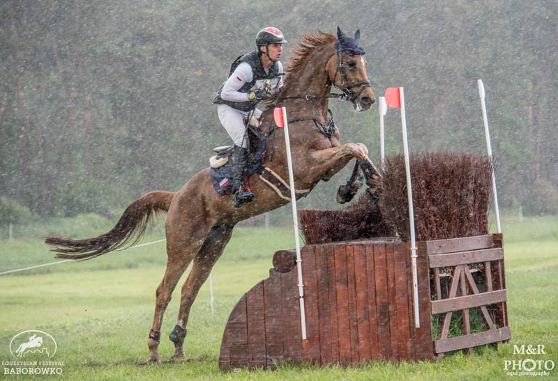 Paweł Spisak and Banderas lead the Polish National Championships after the CCI4*-S cross-country at the Baborówko Equestrian Festival.