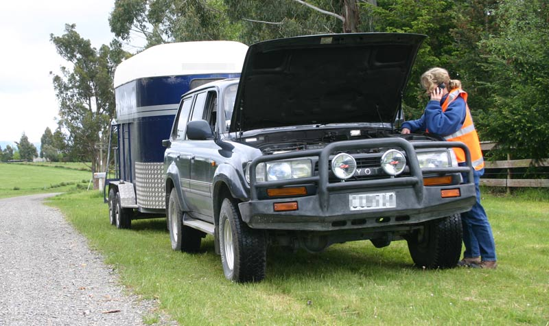 There are several safety factors to consider when towing a horse trailer.