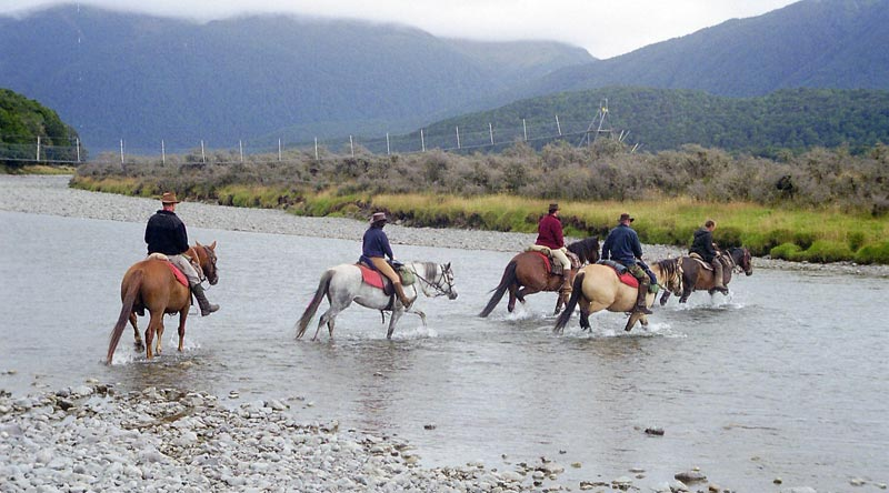 River water may look lovely and clear, but leave it to the horses.