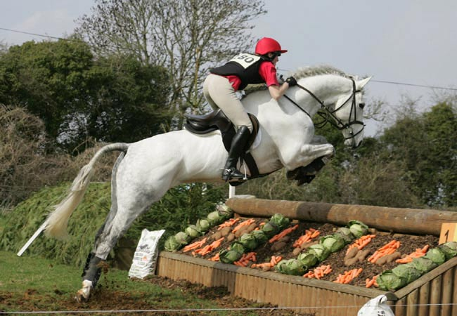 Freddie Fox and Gillian Higgins at Withington Manor during their eventing days.