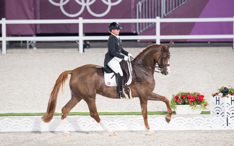 Individual dressage silver medalist Isabell Werth and Bella Rose.