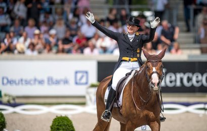 Isabell Werth and Bella Rose at Aachen in 2019.