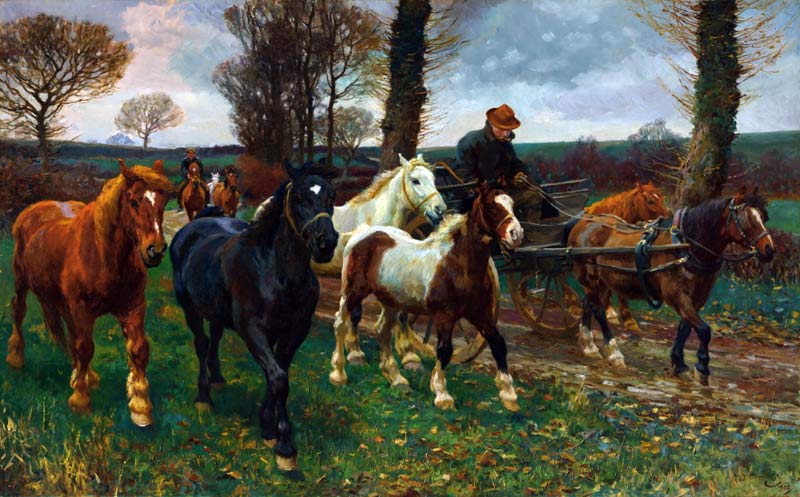 The pre-auction estimate for The Vagabonds, by Sir Alfred Munnings, was between £700,000 and £1 million; it sold for £1,942,500.