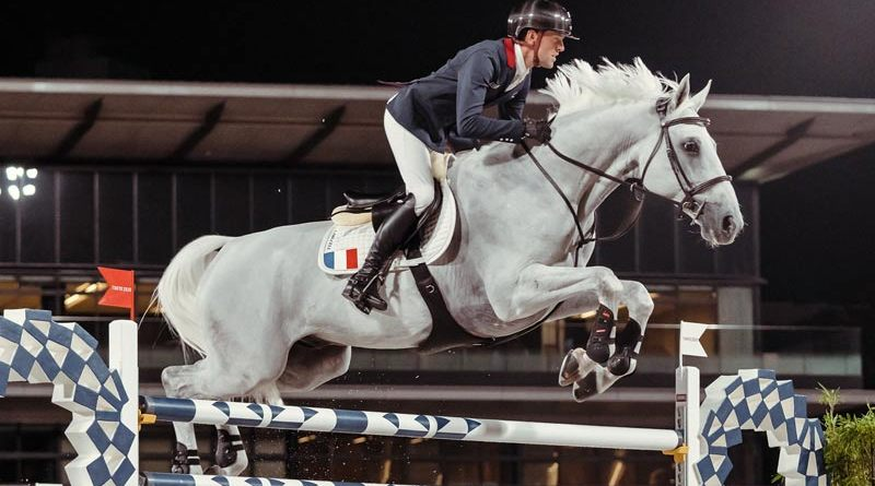 Simon Delestre and Berlux Z helped the French team to qualification for the jumping final at Tokyo 2020.