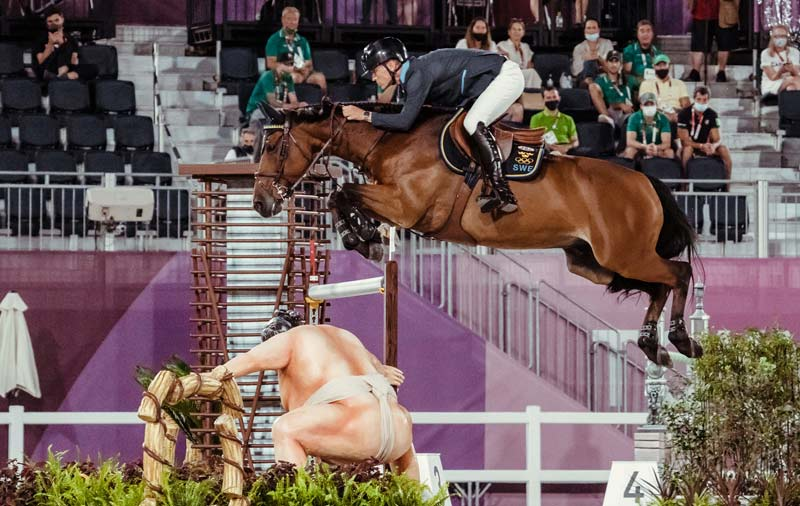 Tokyo 2020 showjumping individual silver medalist Peder Fredricson and All In.