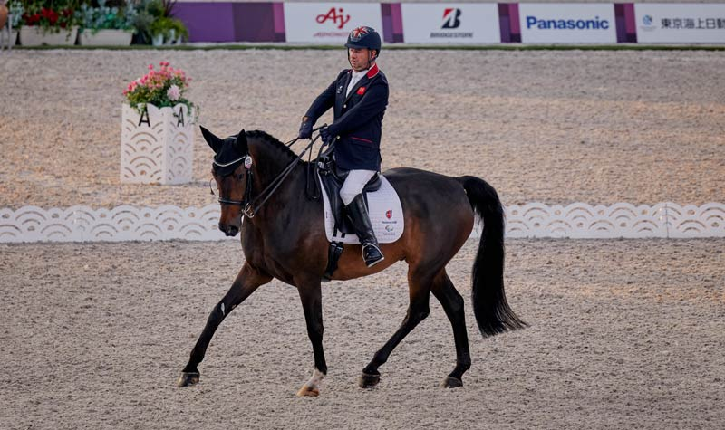 Lee Pearson and Breezer scored 77.636 for Britain on the first day of the para dressage team competition at the Tokyo 2020 Paralympics.