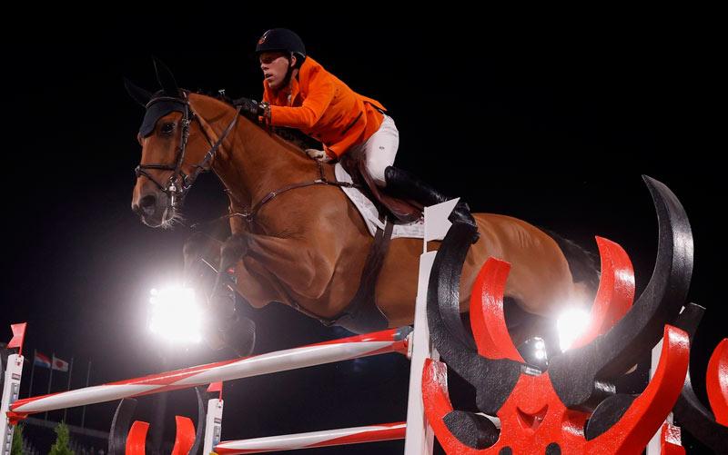 Tokyo 2020 showjumping bronze medalist Maikel van der Vleuten and Beauville Z.
