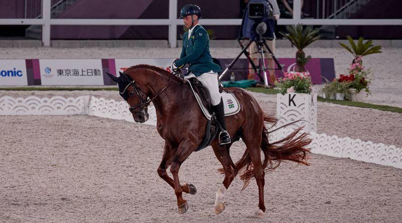 Tokyo 2020 Grade IV silver medalist Rodolpho Riskalla (Brazil) and Don Henrico.