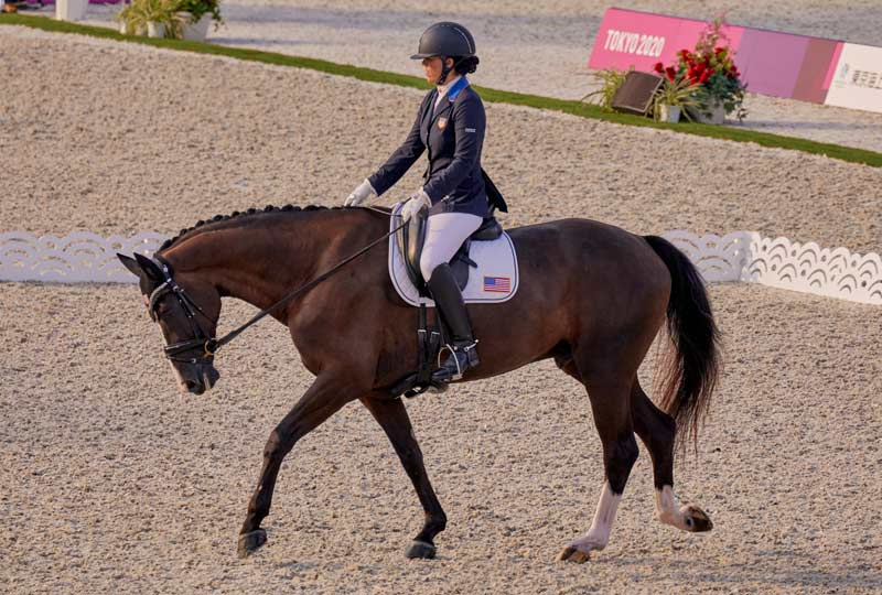 Roxanne Trunnell (USA) and Dolton won the Grade 1 individual test at the Tokyo 2020 Paralympics.
