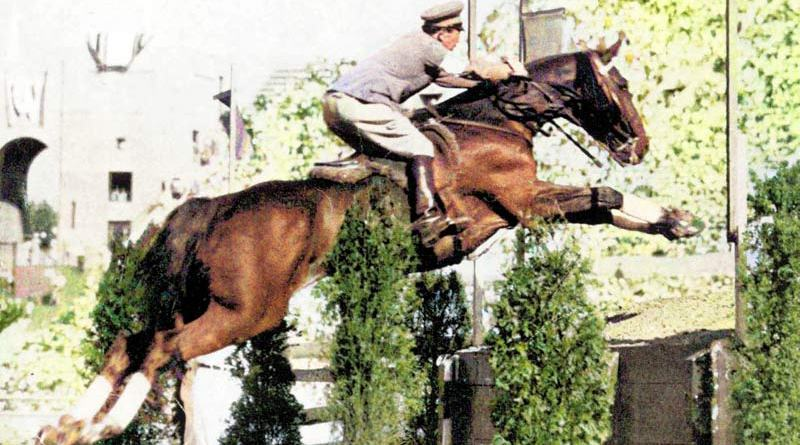 Japan's only Olympic showjumping medalist thus far: Los Angeles 1932 individual gold medallist Takeichi Nishi (Japan) and Uranus.