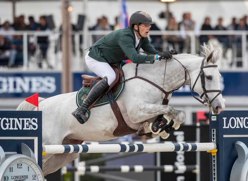FEI WBFSH Jumping World Breeding Championship for Young Horses Seven-Year-Old winner Just a Dream (VDL Zirocco Blue/Carano), ridden by Harm Lahde.