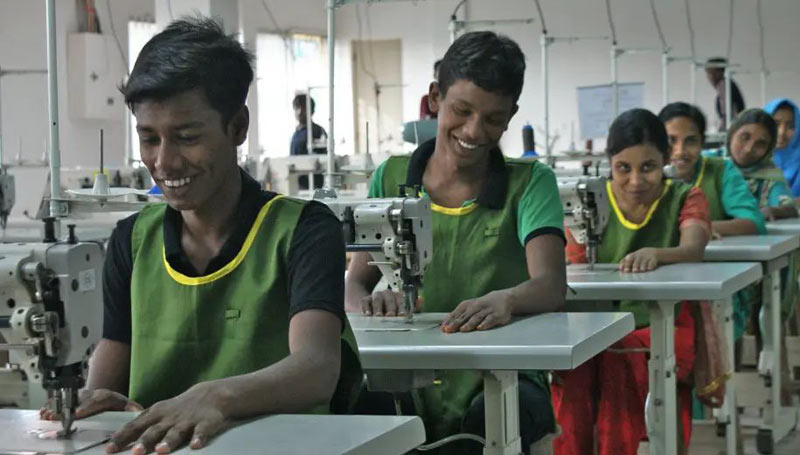 Young trainees in the leather industry in Bangladesh. A new study reports that the leather industry in the country routinely employs children.