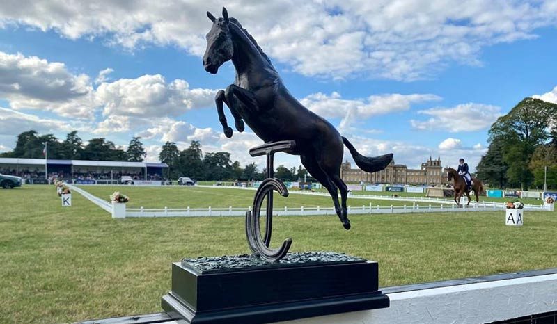 The new trophy for the CCI4*-L at the Blenheim Palace International Horse Trials.