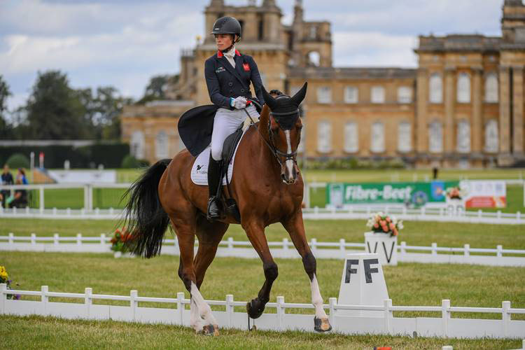 Local rider Izzy Taylor is sixth with Hartacker in the CCI4*-S for eight and nine-year-olds at Blenheim.