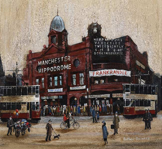 Arthur Delaney's The Manchester Hippodrome, is one of the works that will be sold later this month.
