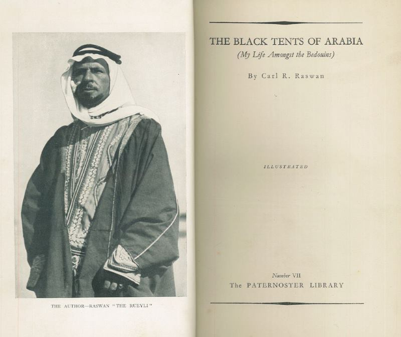 A rare, early reprint of Carl Raswan's The Black Tents of Arabia is among the 244 lots for sale.
