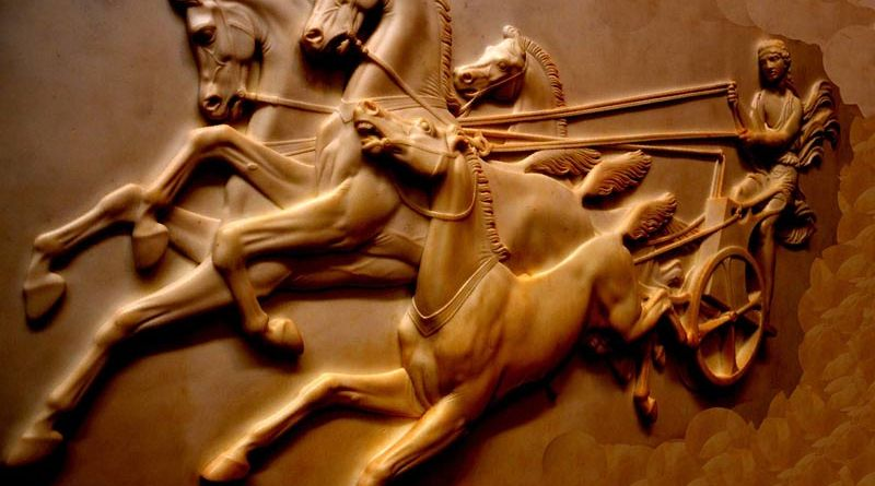 The combination of iron metallurgy and horse riding had a particularly strong effect on innovation and adoption of militarily technologies.