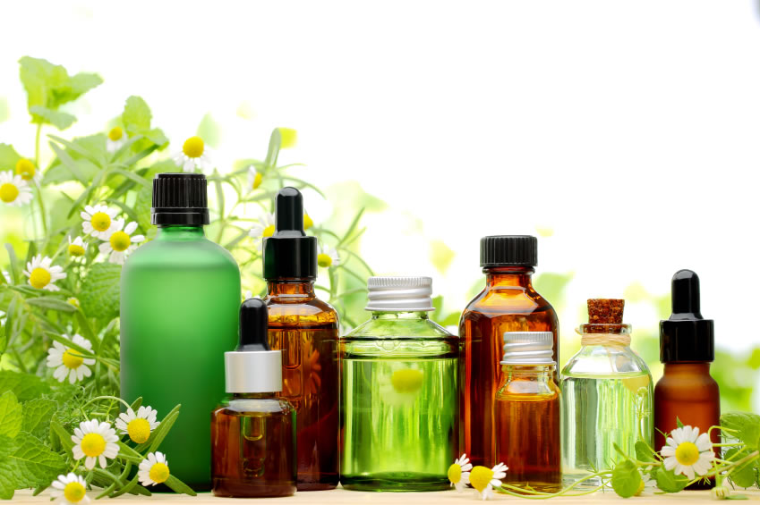 aromatherapy and homeopathy bottles