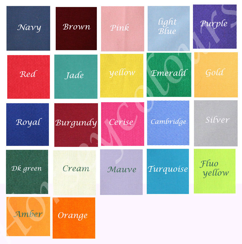 saddle pad cotton drill colours
