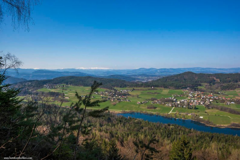 Blick vom Plöschenberg zum Rauschelesee