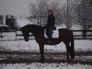 paardrijden in de winter