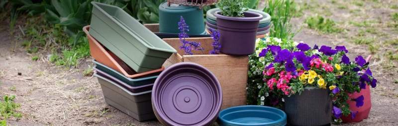 improve drainage of the potted plants