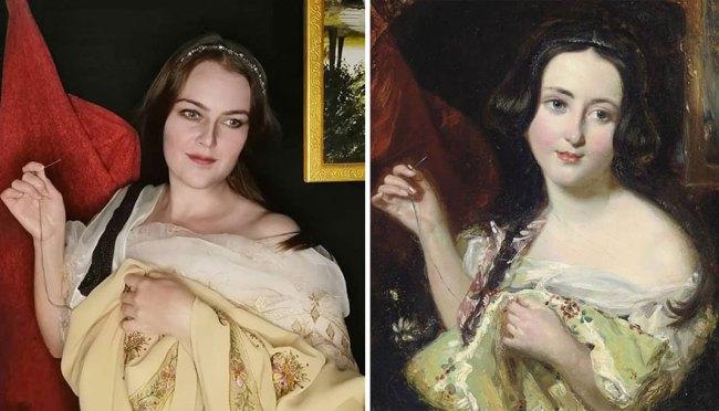 """William Etty """"The Seamstress"""" (~1820)"""