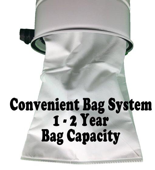 Hose Genie bag system central vacuum