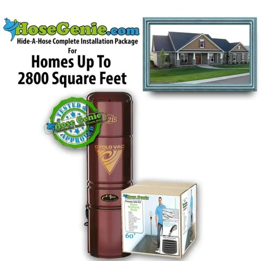 Hide-A-Hose Complete Installation Kit | Package 2800 sq/ft home