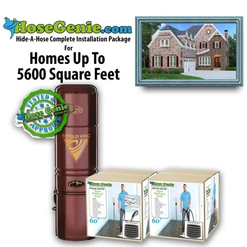 Hide-A-Hose Complete Installation Kit | Package 5600 sq/ft home