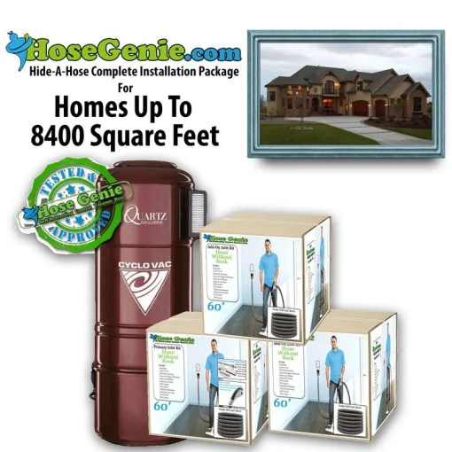 Hide-A-Hose Complete Installation Kit | Package 8400 sq/ft home