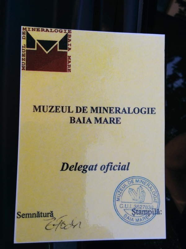 Mineral Museum Parking Pass