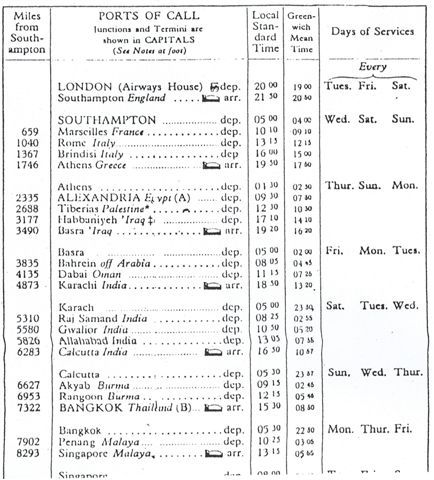 Imperial Airways Schedule