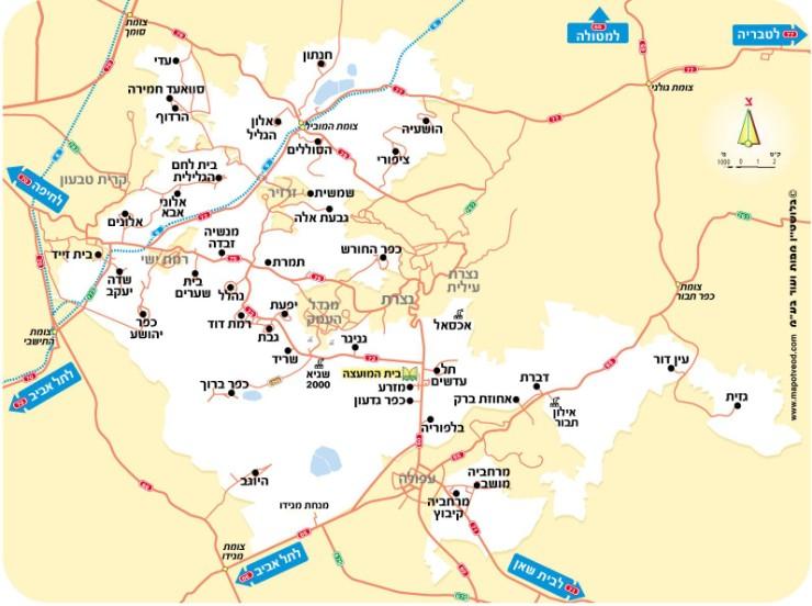 מיוחדים הופיעה מפת שביל יזרעאל - קק״ל - הושבילים YT-16