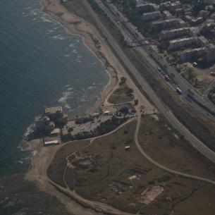 תל שקמונה צילום מהאוויר צילום: Meronim